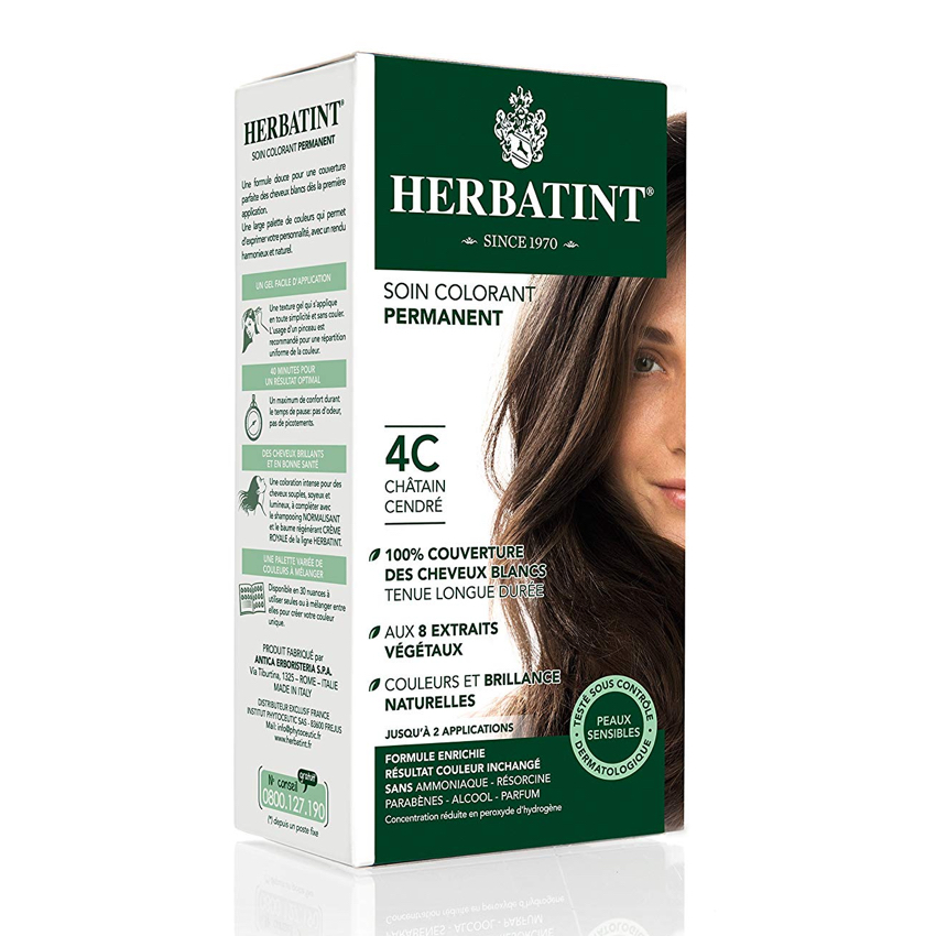 HERBATINT PERMANENT HAIR COLOUR – 4C ASH CHESTNUT 150ML