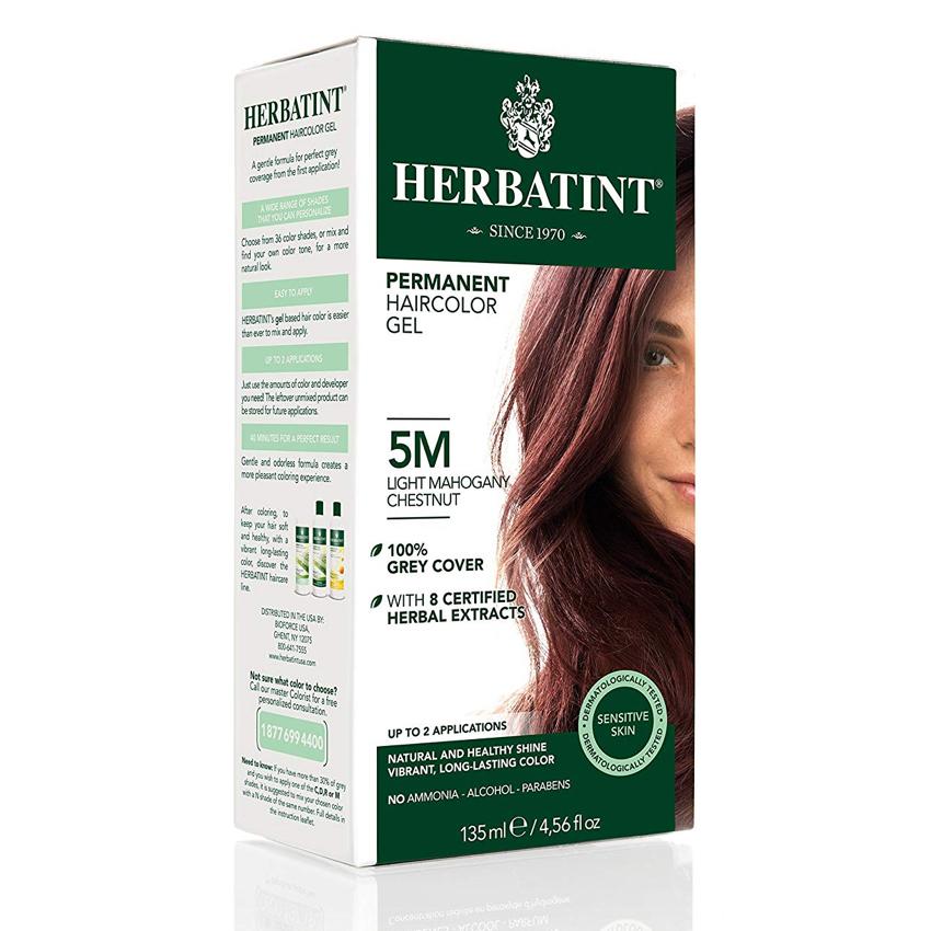 HERBATINT PERMANENT HAIR COLOUR – 5M LIGHT MAHOGANY CHESTNUT 150ML