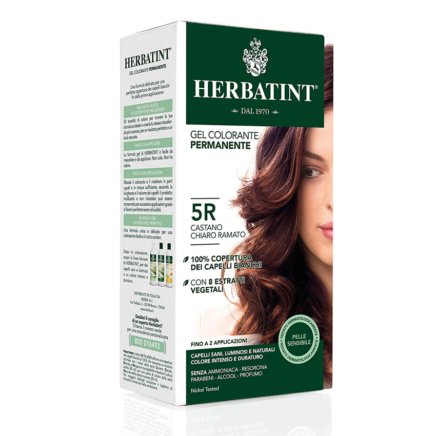 HERBATINT PERMANENT HAIR COLOUR – 5R LIGHT COPPER CHESTNUT 150ML