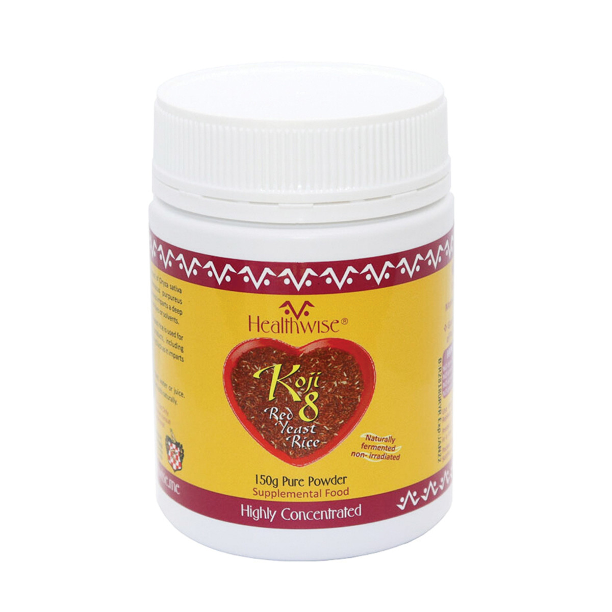HEALTHWISE KOJI 8 RED RICE YEAST 150GM