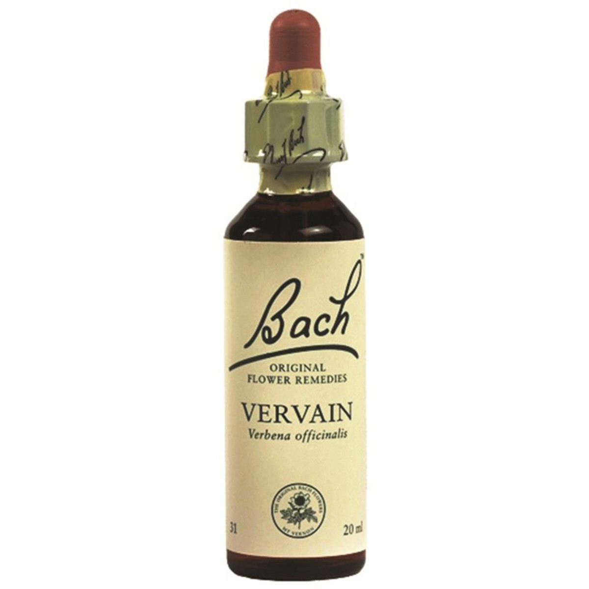 BACH FLOWER REMEDIES VERVAIN 10ML