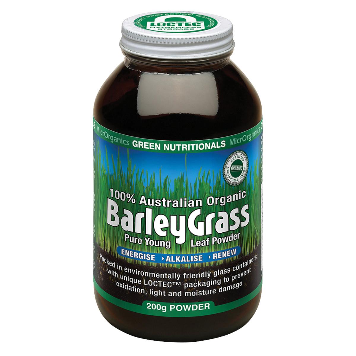 MICRORGANICS GREEN NUTRITIONALS BARLEY GRASS 200G BONUS 25