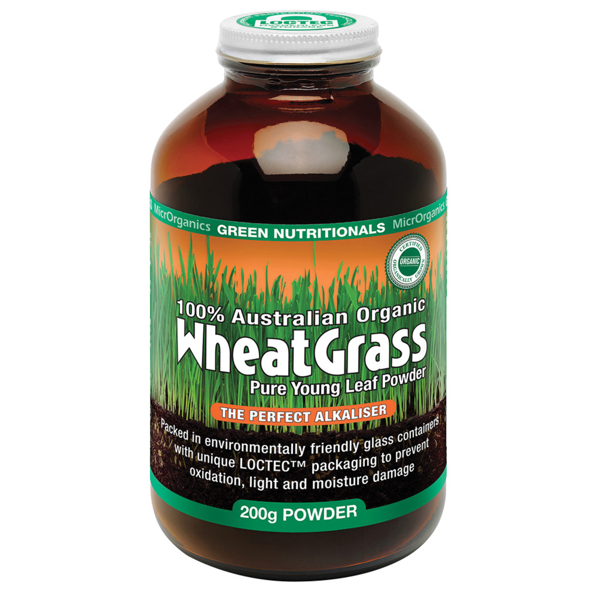 MICRORGANICS GREEN NUTRITIONALS WHEATGRASS 200G BONUS 25%