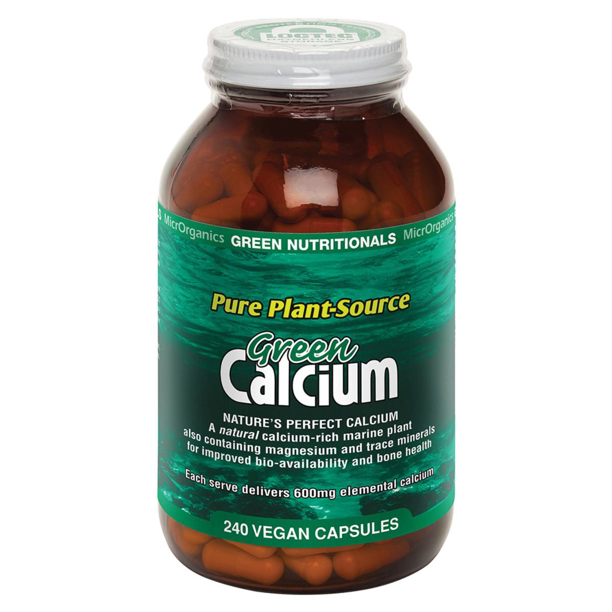 MICRORGANICS GREEN NUTRITIONALS GREEN CALCIUM 240C
