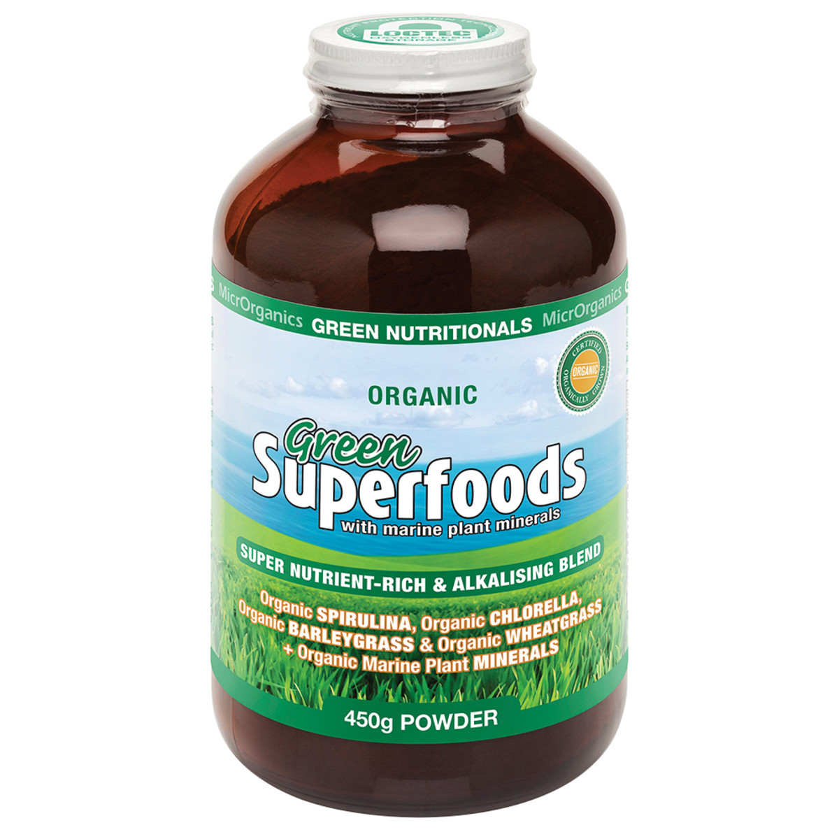 MICRORGANICS GREEN NUTRITIONALS SUPERFOODS 450G PWDR