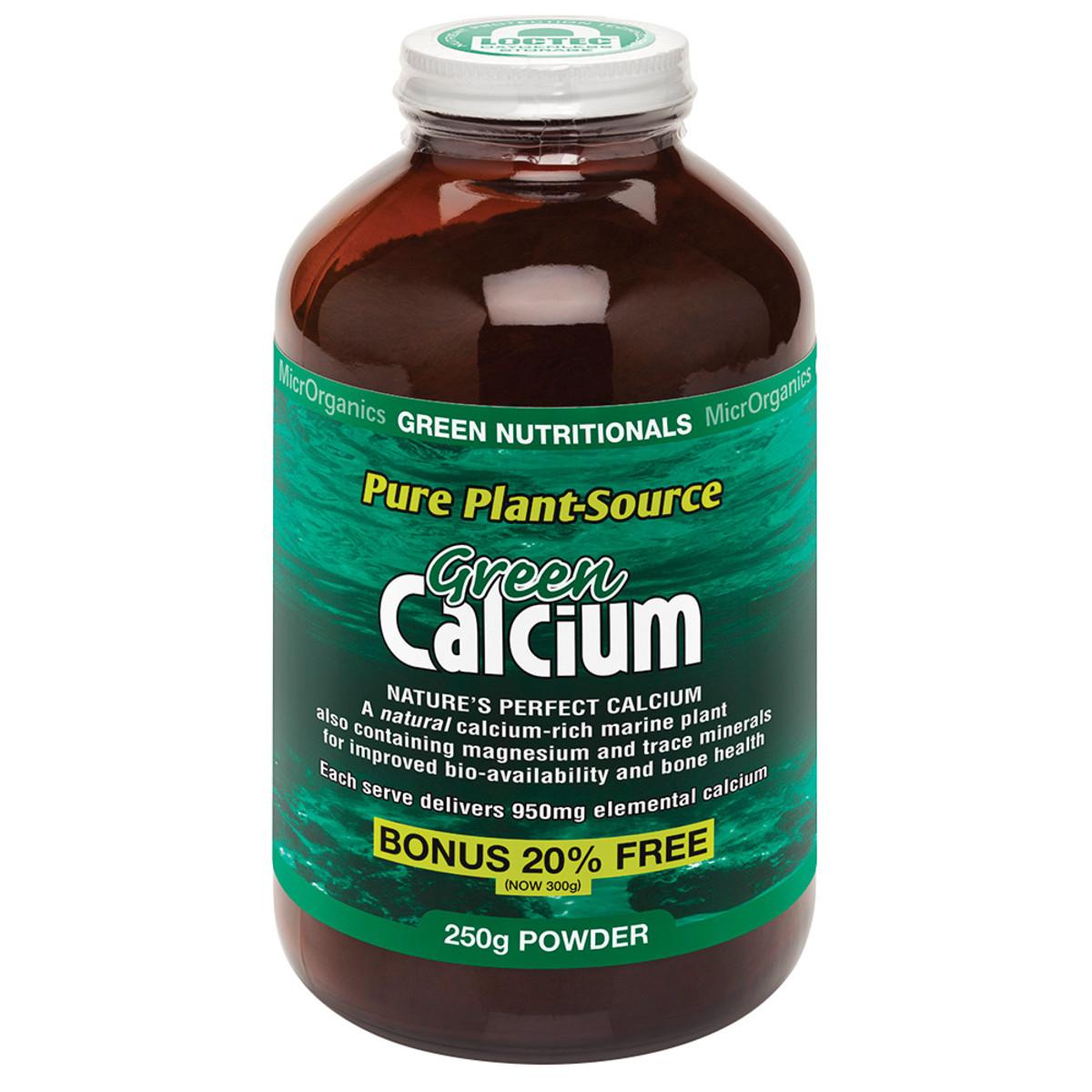 MICRORGANICS GREEN NUTRITIONALS GREEN CALCIUM 250G