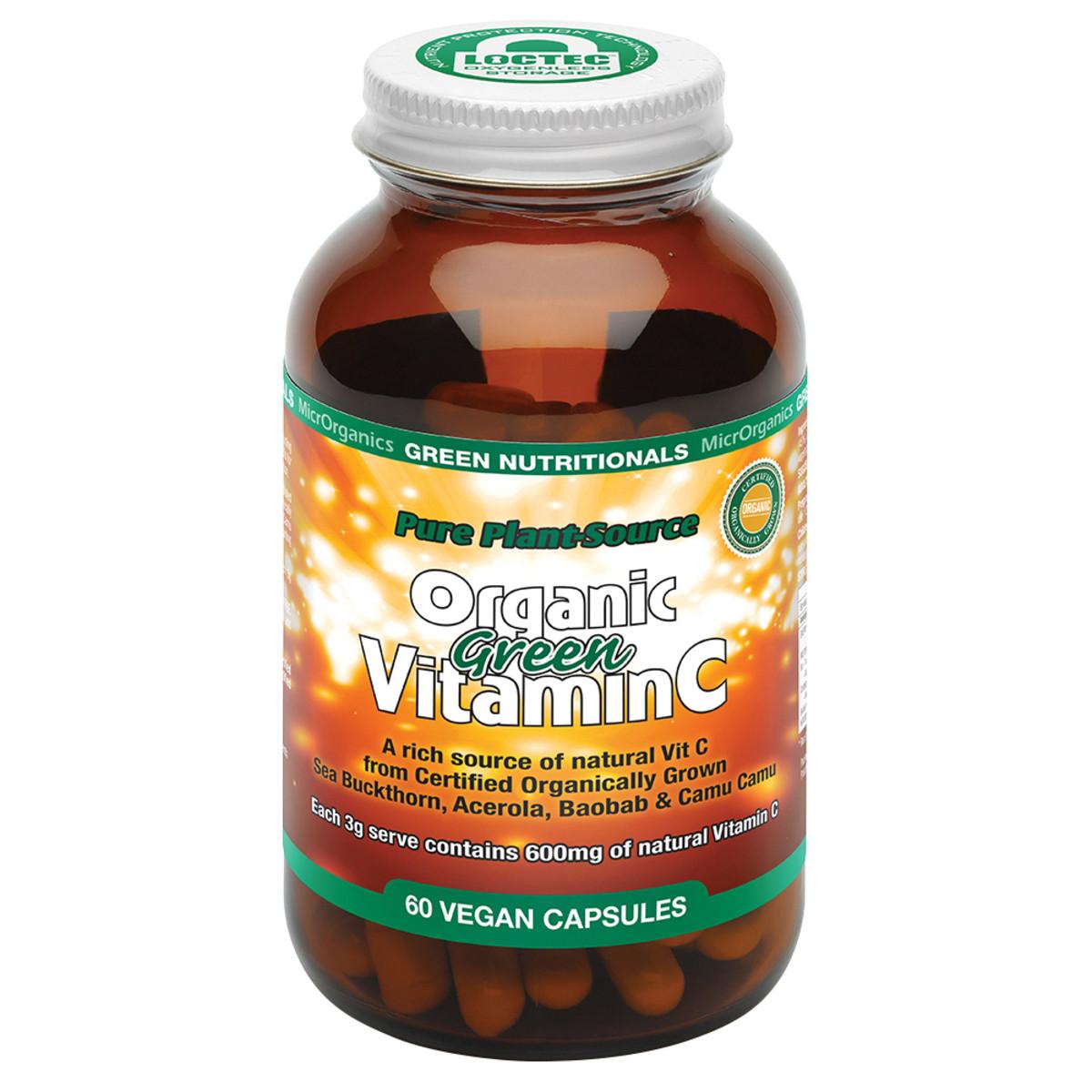 MICRORGANICS GREEN NUTRITIONALS ORGANIC GREEN VITAMIN C 60C