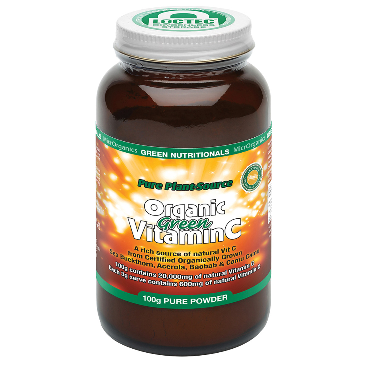 MICRORGANICS GREEN NUTRITIONALS GREEN VIT C POWDER 100G
