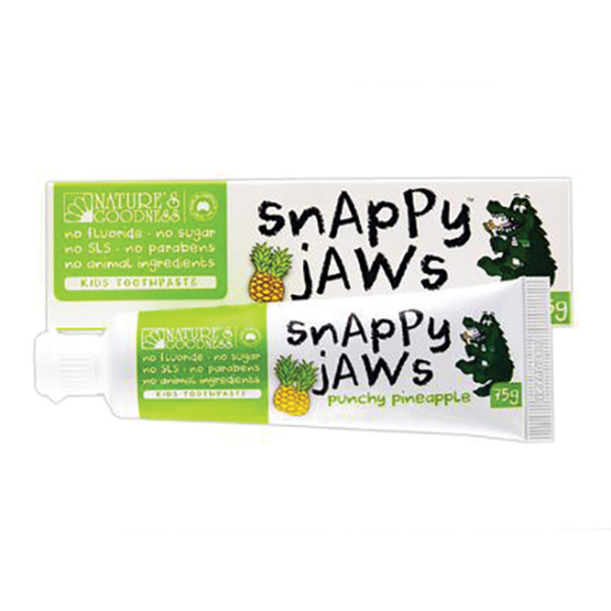 NATURE'S GOODNESS SNAPPY JAWS TOOTHPASTE PINE 75G