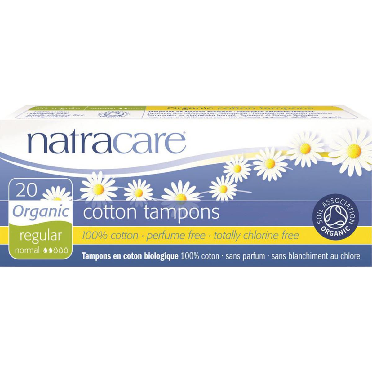 NATRACARE COTTON TAMPONS REGULAR ORGANIC 20 PACK