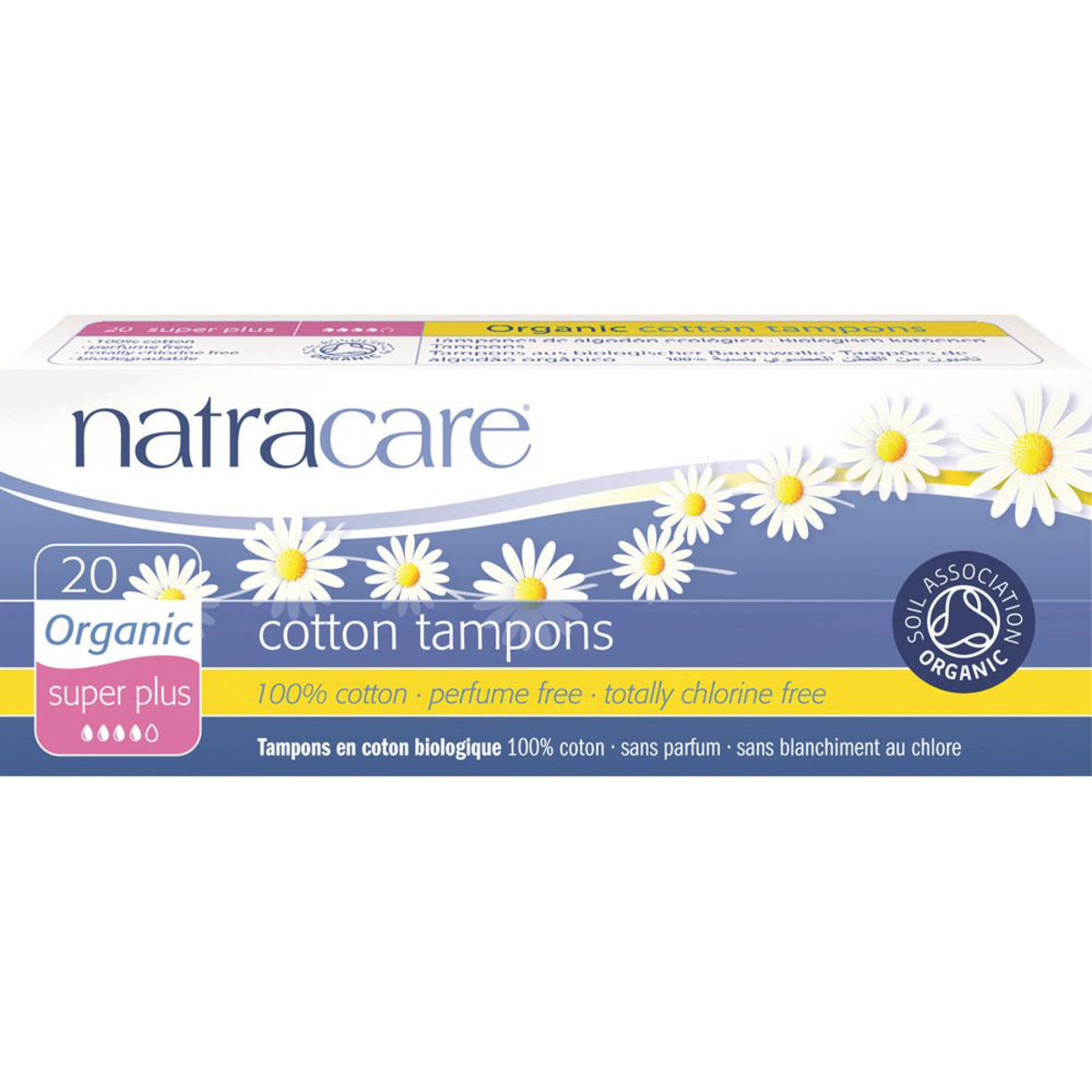 NATRACARE COTTON TAMPONS SUPER PLUS ORGANIC 20 PACK
