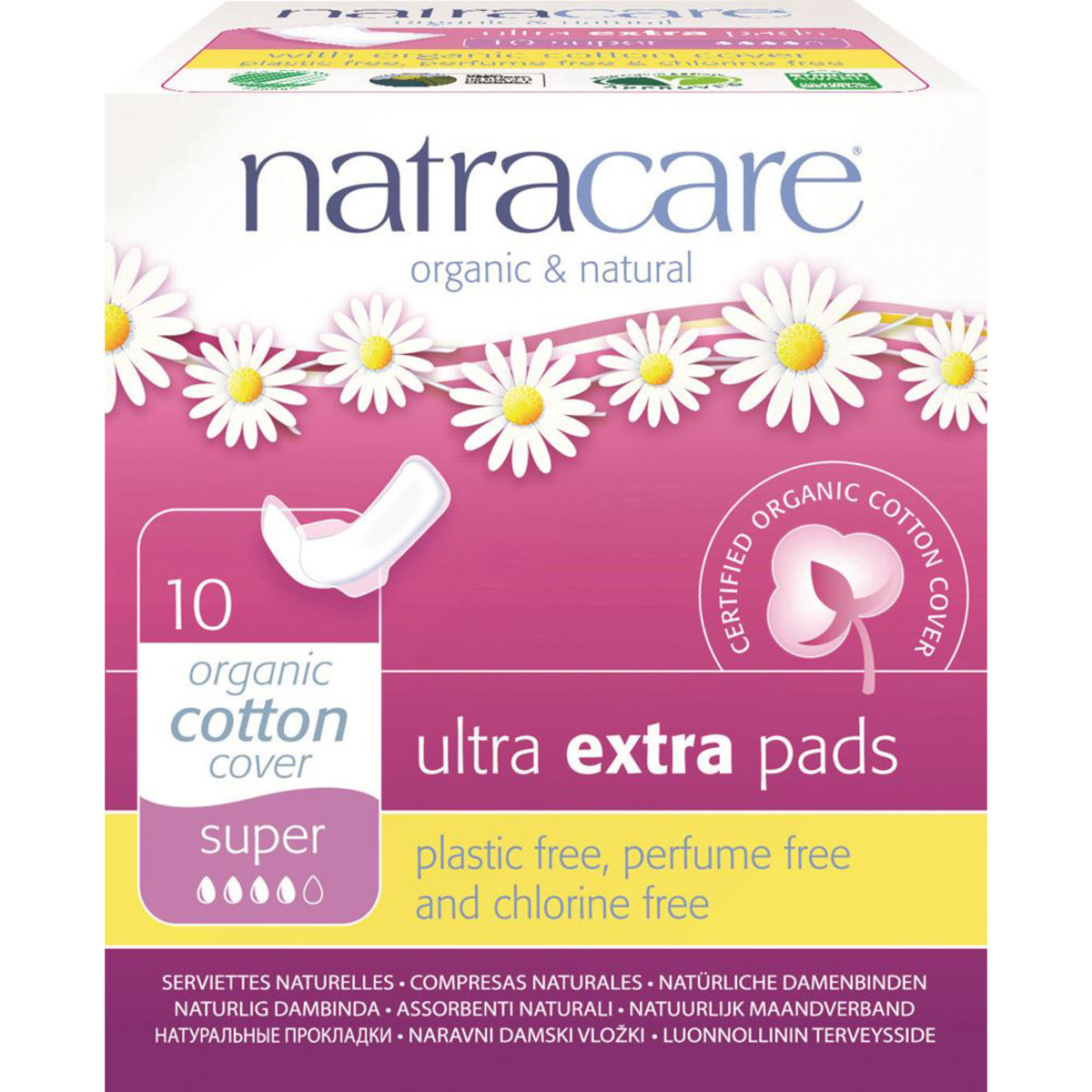 NATRACARE ULTRA EXTRA SUPER PADS X 10