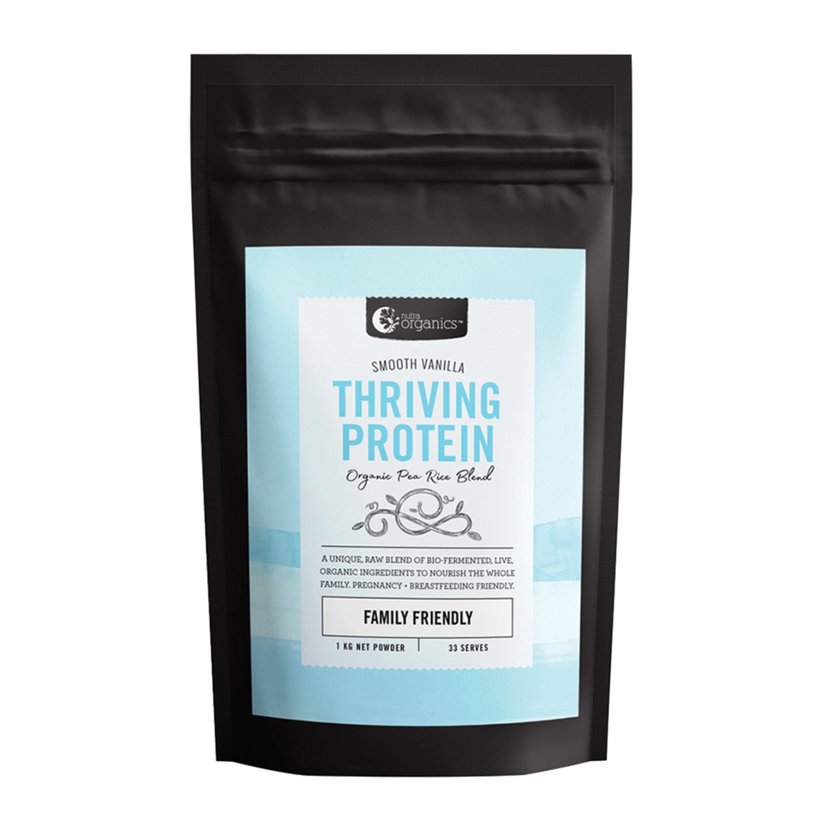 NUTRA ORGANICS THRIVING PEA PROTEIN FAMILY FRIENDLY SMOOTH VANILLA 1KG