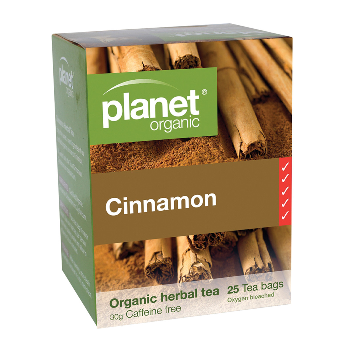 PLANET ORGANIC CINNAMON TEA ORG 25TB