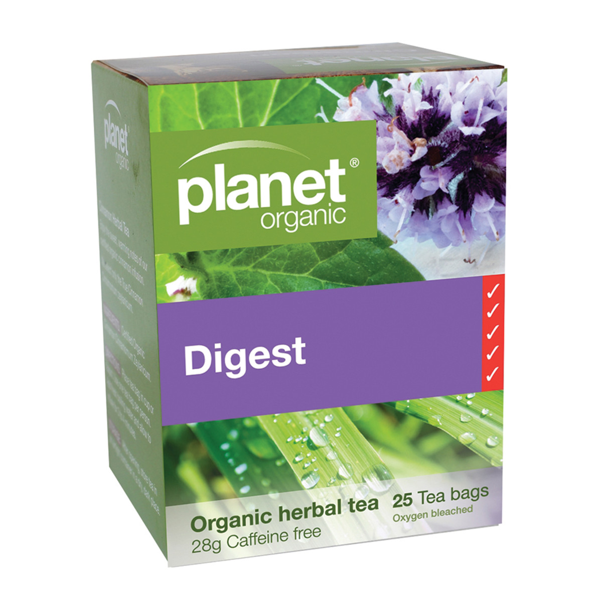 PLANET ORGANIC DIGEST TEA ORG 25TB