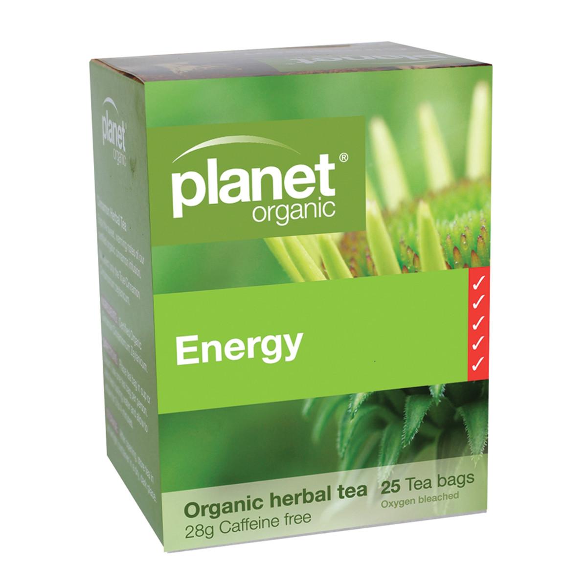 PLANET ORGANIC ENERGY TEA 25TB