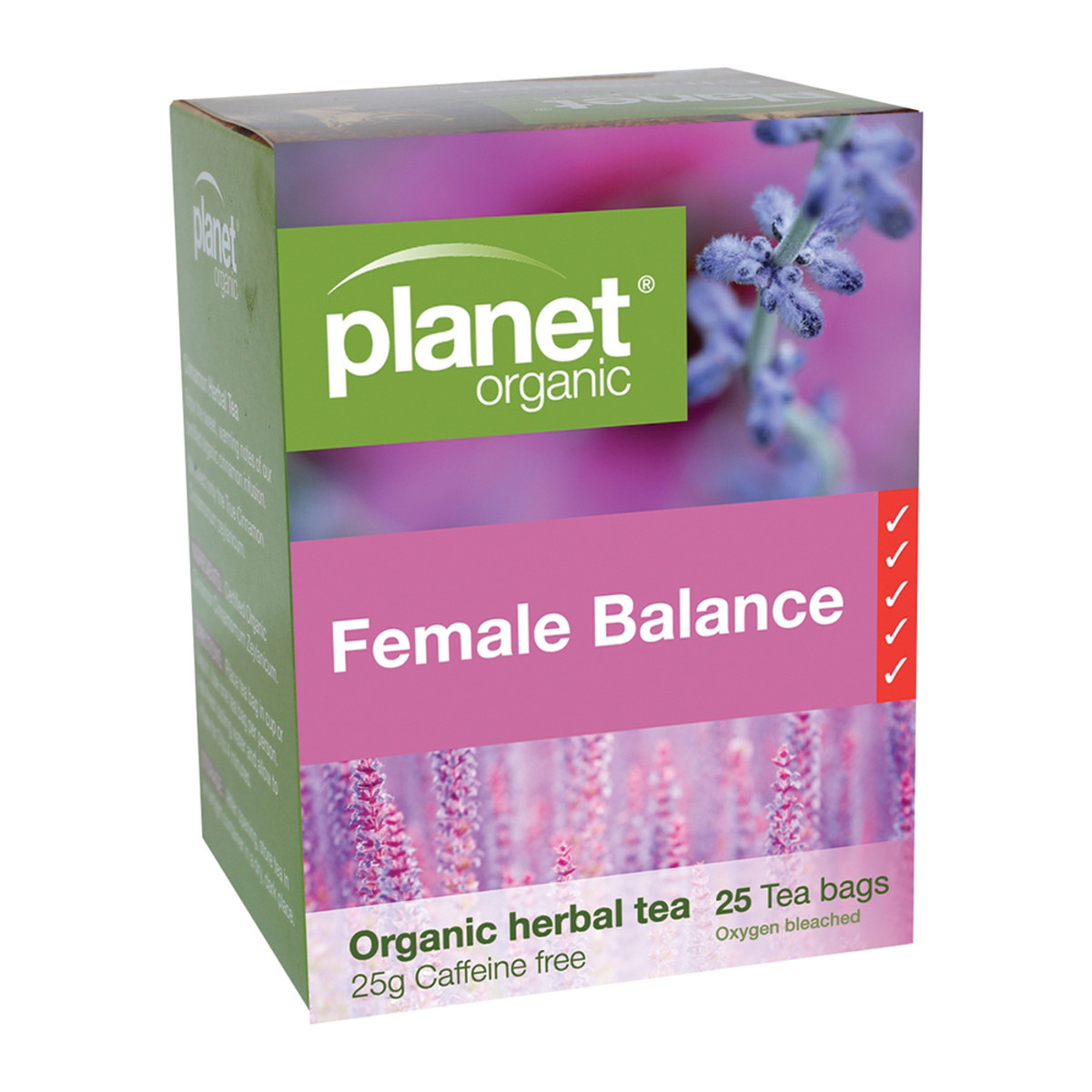 PLANET ORGANIC FEMALE BALANCE TEA 25TB