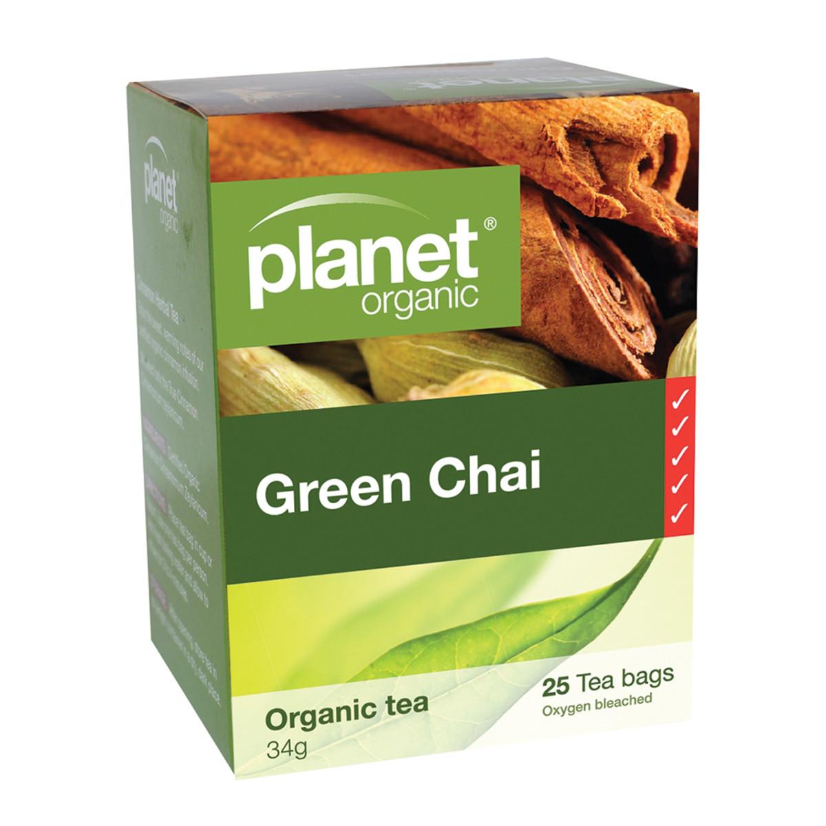 PLANET ORGANIC GREEN CHAI TEA ORG 25TB