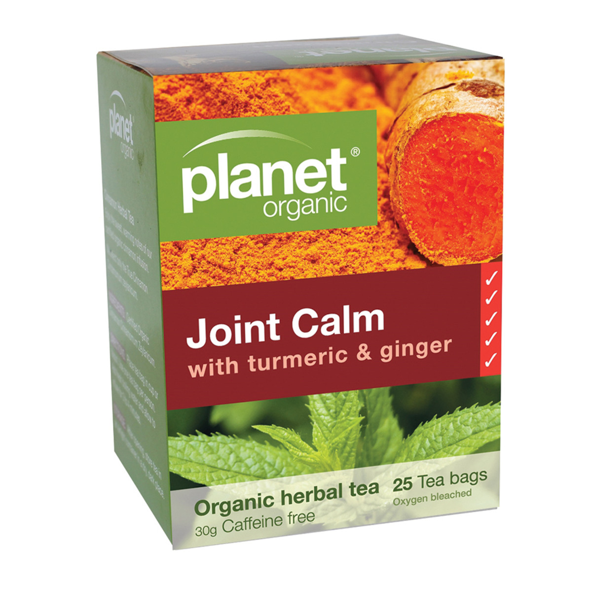 PLANET ORGANIC JOINT CALM TURMERIC & GINGER 25TB