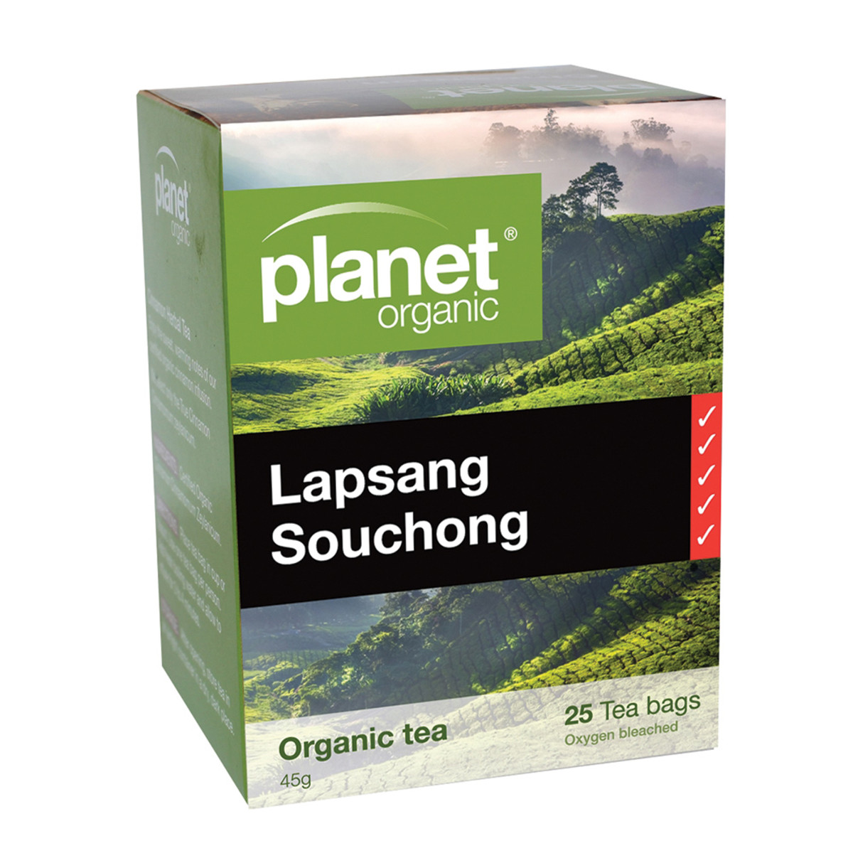 PLANET ORGANIC LAPSANG SOUCHONG ORG 25TB
