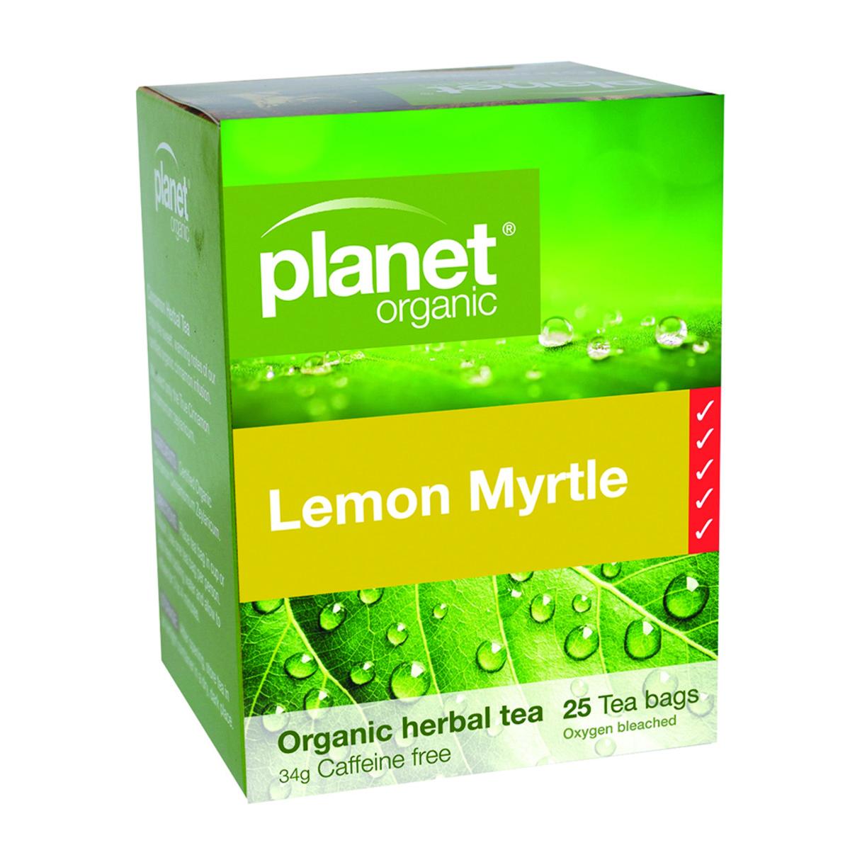 PLANET ORGANIC LEMON MYRTLE TEA 25TB
