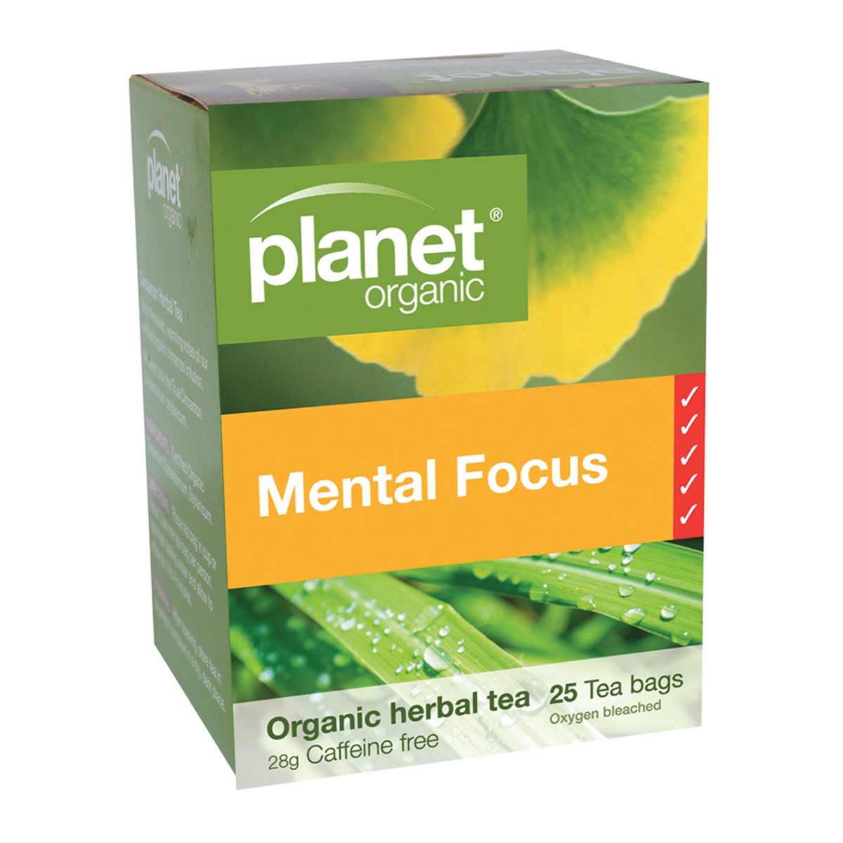 PLANET ORGANIC MENTAL FOCUS TEA ORG 25TB