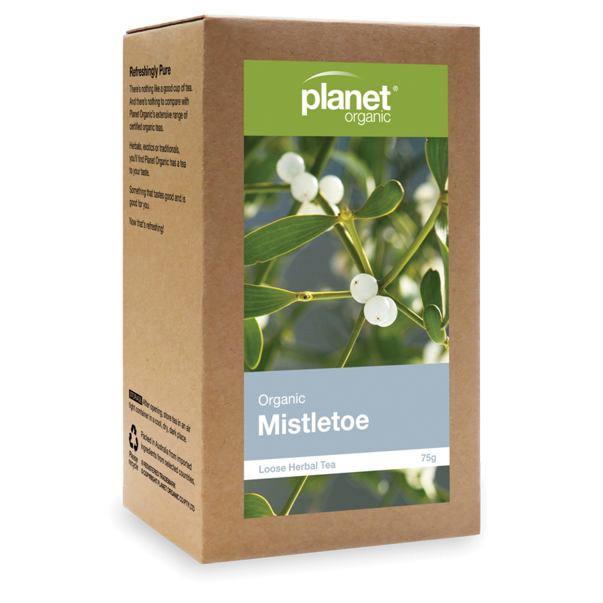 PLANET ORGANIC MISTLETOE LOOSE LEAF 75G