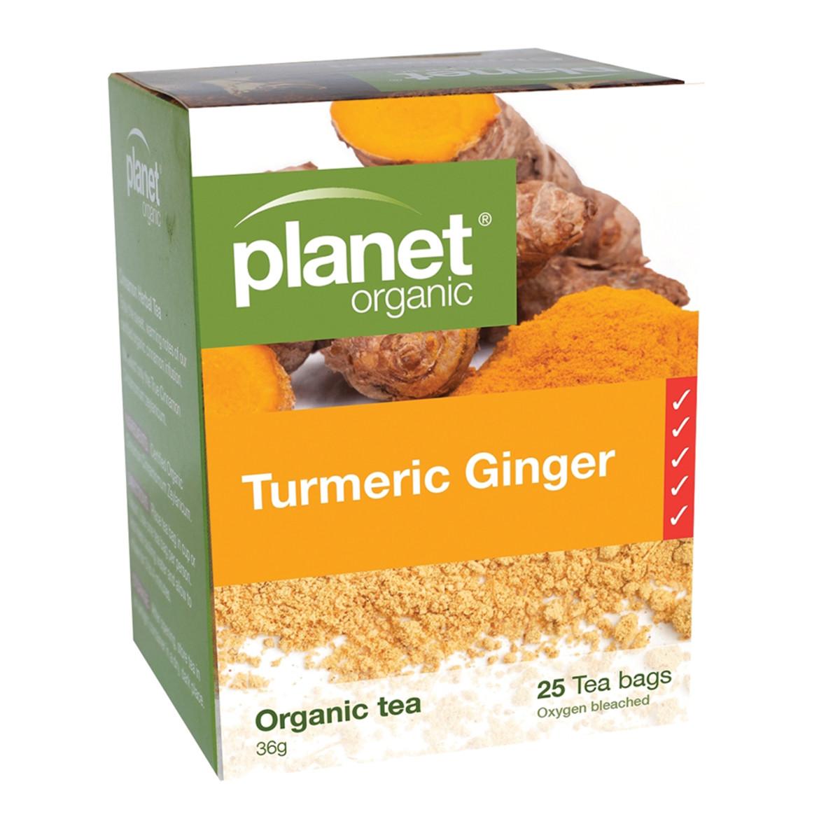 PLANET ORGANIC TURMERIC GINGER 25TB
