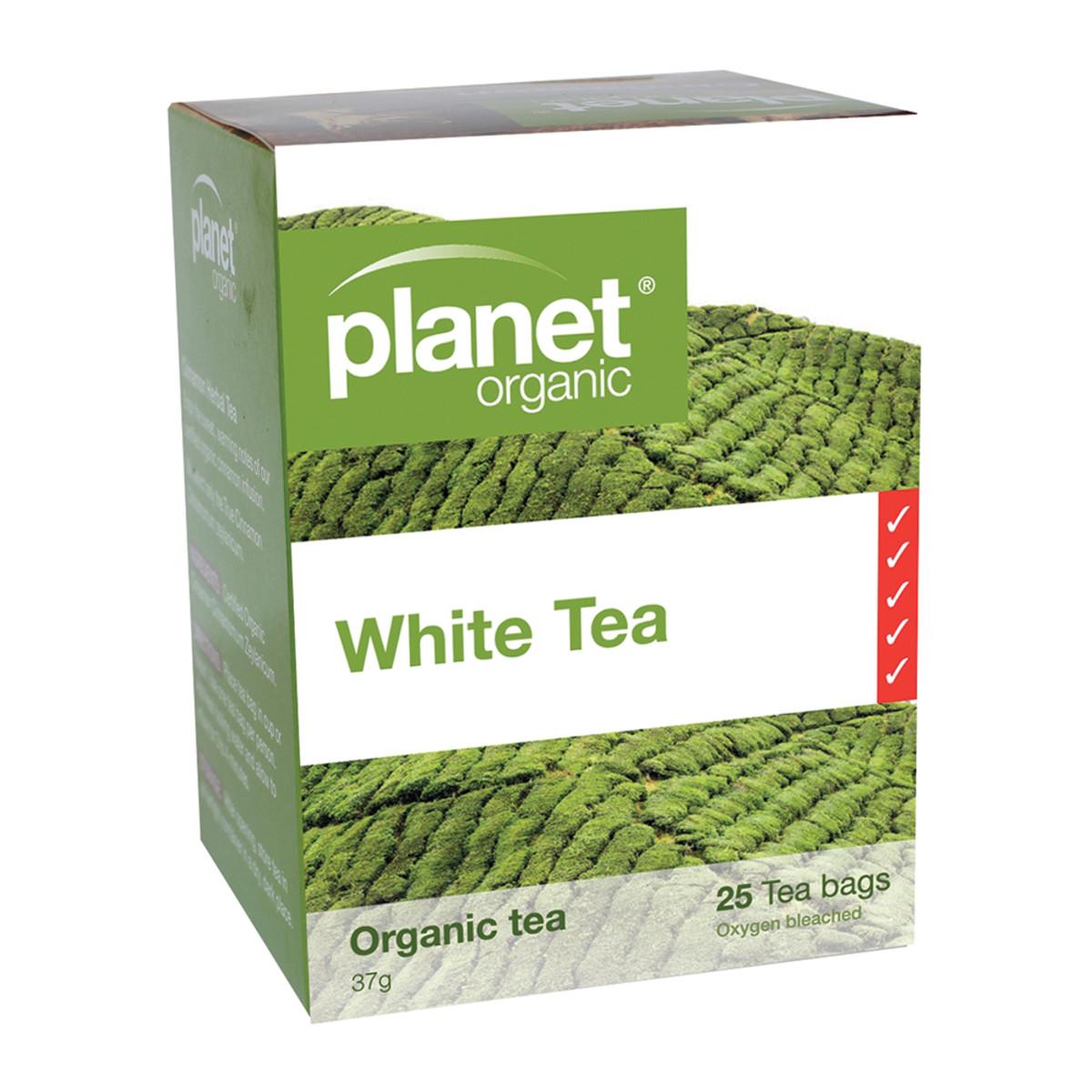 PLANET ORGANIC WHITE TEA ORG 25TB
