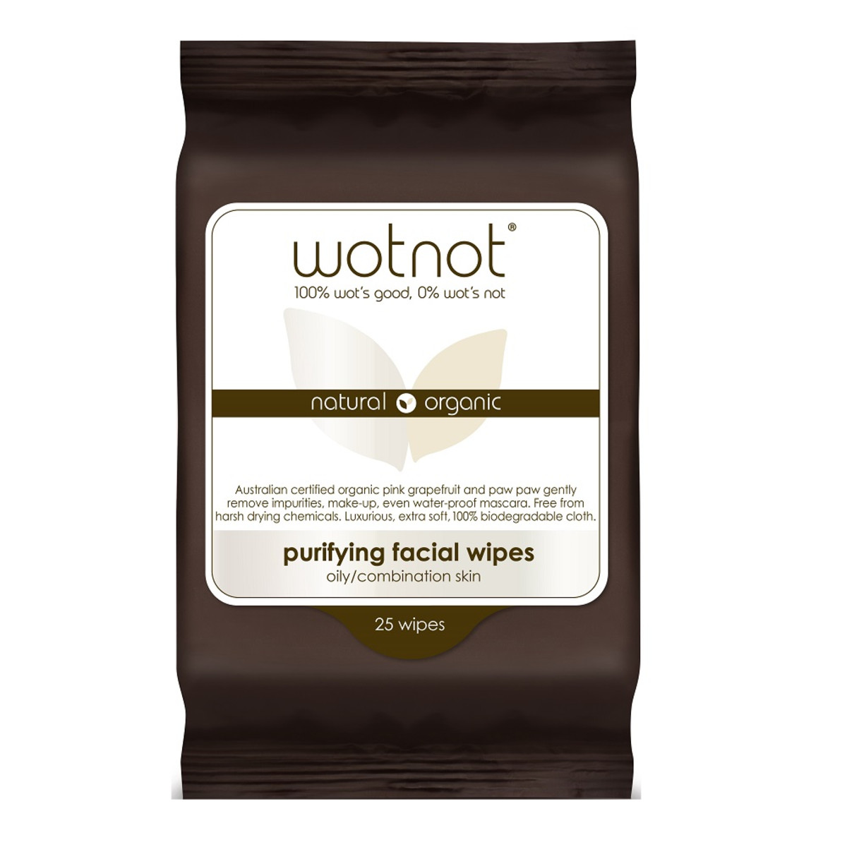 WOTNOT FACIAL WIPES OILY/COMBO SKIN X25