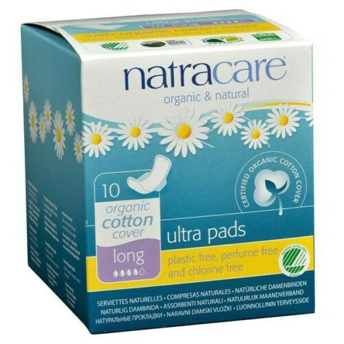 NATRACARE ULTRA PADS LONG ORGANIC COTTON 10 PACK