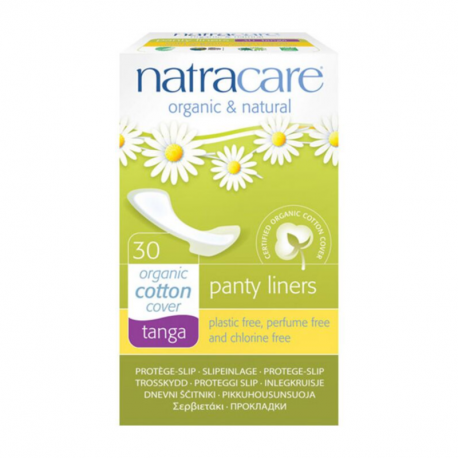 NATRACARE PANTY LINERS TANGA ORGANIC COTTON COVER 30 PACK