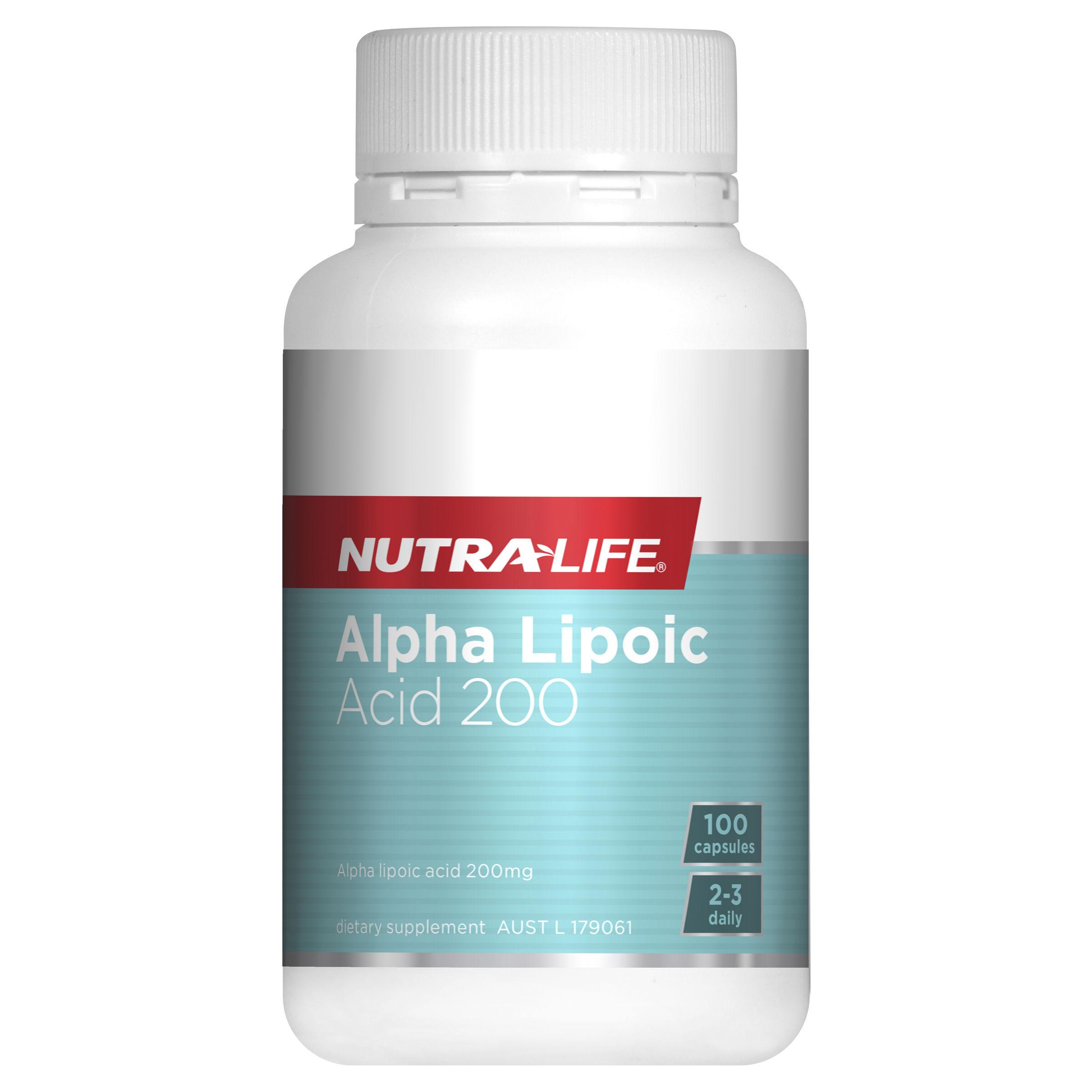 NUTRALIFE ALPHA LIPIC ACID 200 100CAP