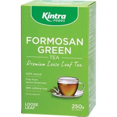 KINTRA FOODS ORG FORMOSAN GREEN TEA 250G